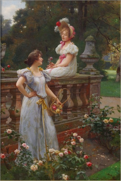 In the garden - Wilhelm Menzler (german, 1846-1926)