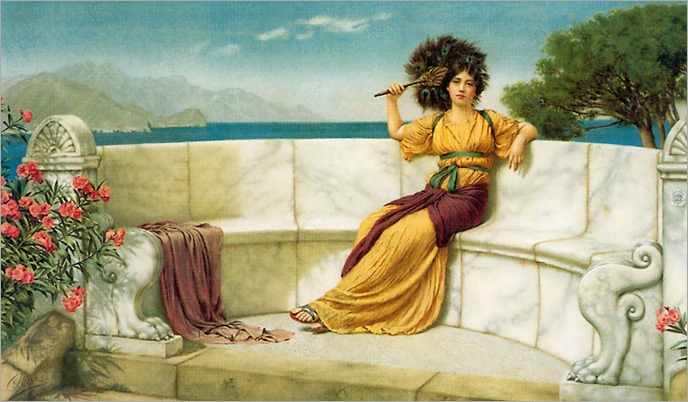 In the prime of the summertime - John W. Godward