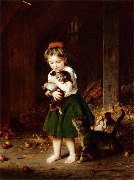 Knaus_Ludwig_A_Handful_of_Kittens_1865