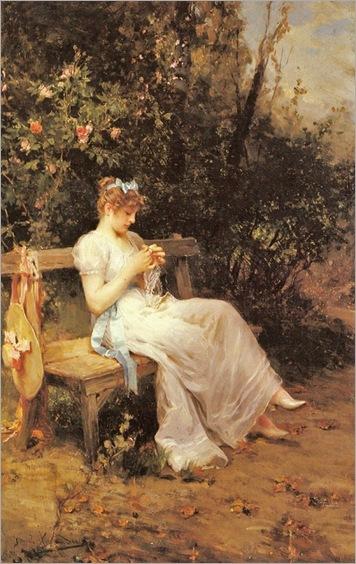 Lady on a Bench - Daniel Hernandez Morillo