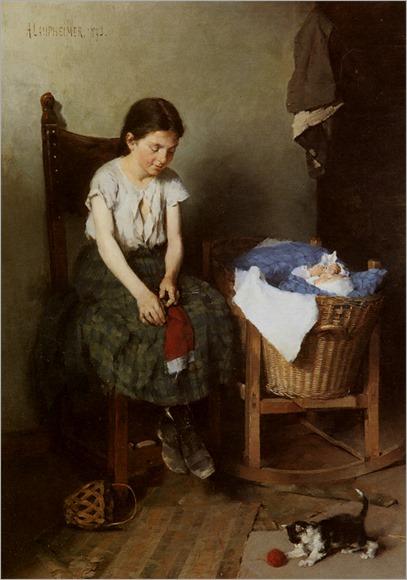 Laupheimer_Anton_Die_Grosse_Schwester_1873