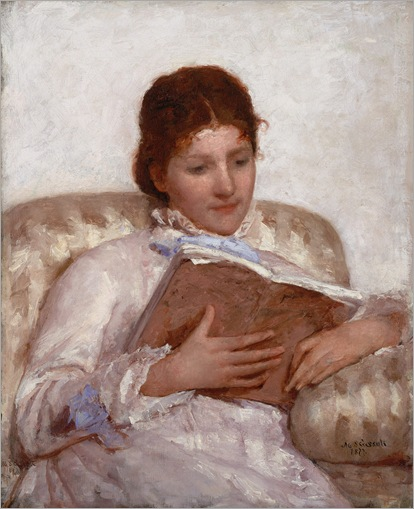 Mary Cassatt (American painter and printmaker 1844-1926)-the reader
