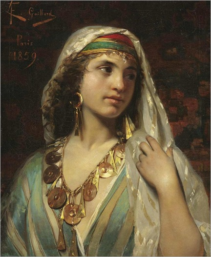 Odalisque - 1859 - Claude Ferdinand Gaillard (french painter)