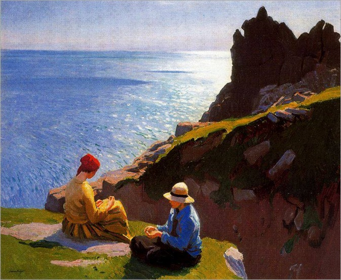 On the Cliffs - Laura Knight