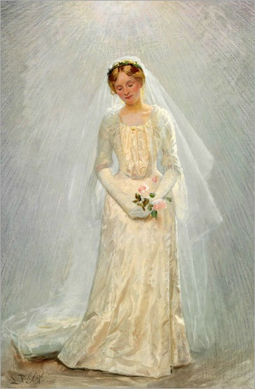 Portrait of a Bride - Laurits Tuxen (danish painter)
