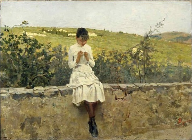 Telemaco Signorini - On the hills to Settignano (1885)