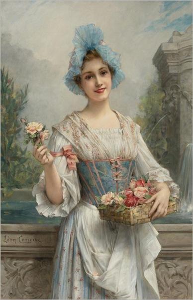 The flower seller_Leon_Francois_Comerre_2