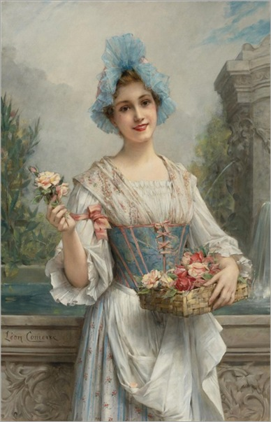 The flower seller_Leon_Francois_Comerre_2