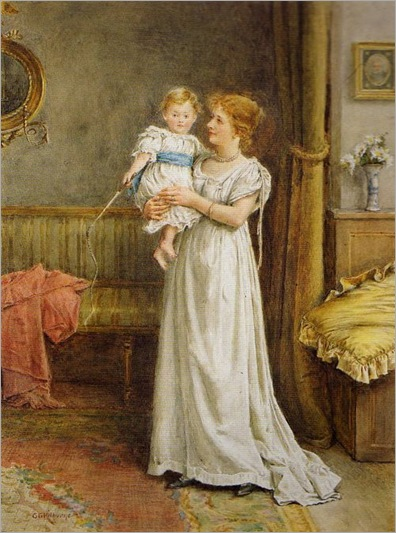 the master of the house-George Goodwin Kilburne