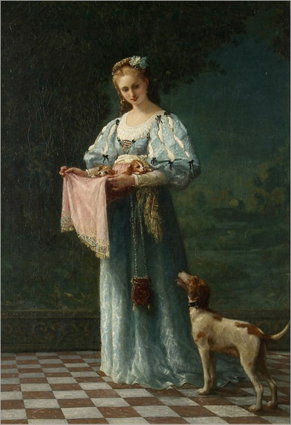 the new litter - Gustave Doyen - 1872