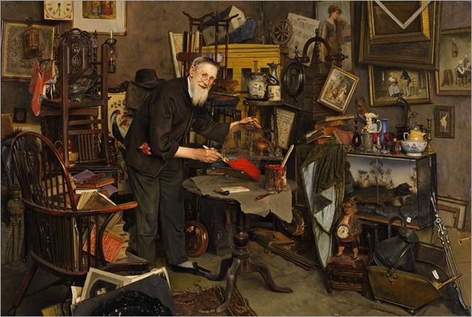 The Old Dealer - Charles Spencelayh