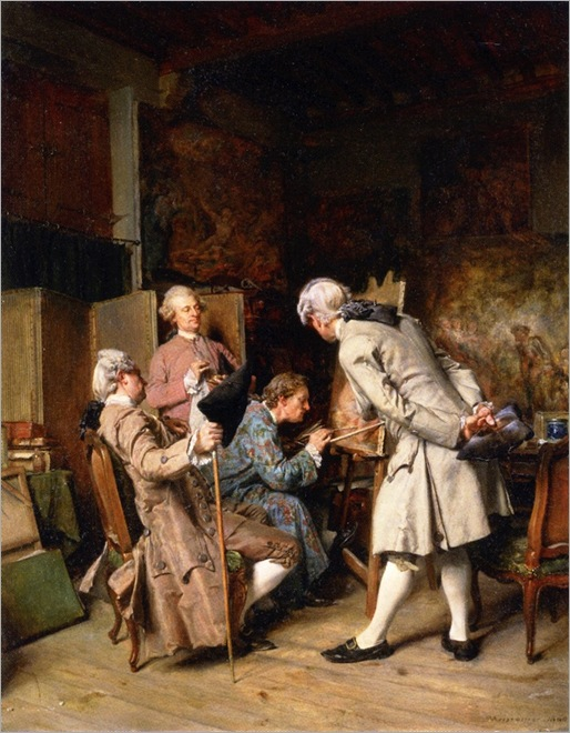 the paintings connoisseurs - Jean-Louis Ernest Meissonier - 1860
