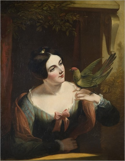 the-pet-bird-daniel-maclise