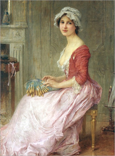 The Seamstress - Charles-Amable Lenoir (french)