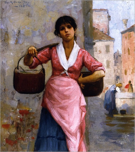 the-water-girl-George Henry Clements - 1885