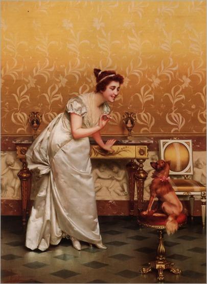 Vittorio Reggianini (Italian,1858-1938) -Teasing
