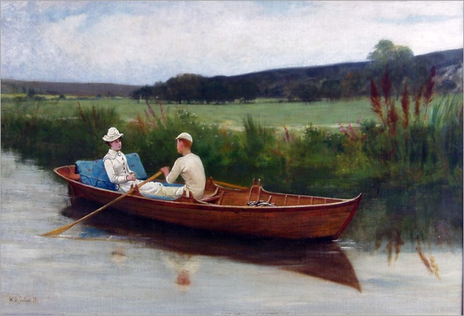 Walter Dendy Sadler (1854-1923)- Summer on the River 1878