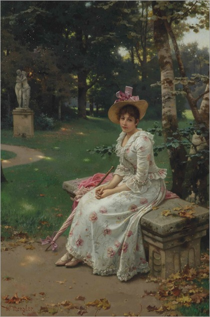 Wilhelm Menzler (german, 1846 - 1926) - Garden remembrances