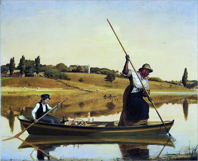 William Sidney Mount (American painter, 1807-1868) Eel Spearing at Setauket Fishing Along the Shore 1845