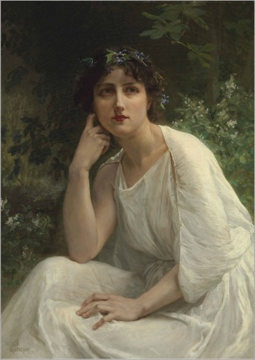 Woman in White by Guillaume Seignac (french, 1870-1924)