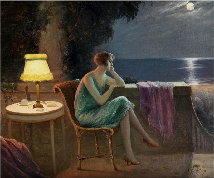 Young Woman on the Terrace_Delphin Enjolras