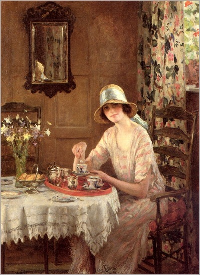 afternoon-tea-by-William-Henry-Margetson