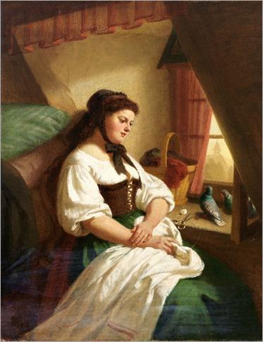 August_Heinrich_Niedmann (1826–1910)_Gedankenverloren