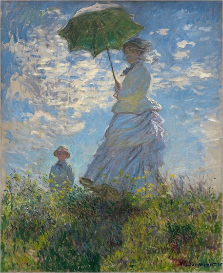 Claude Monet - Woman with a Parasol - Madame Monet and Her Son - 1875