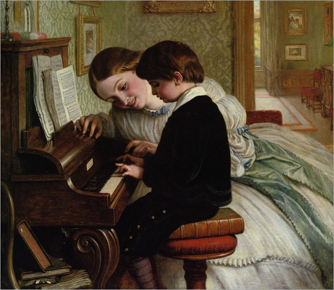 Cope_Charles_West_The_Music_Lesson_1869