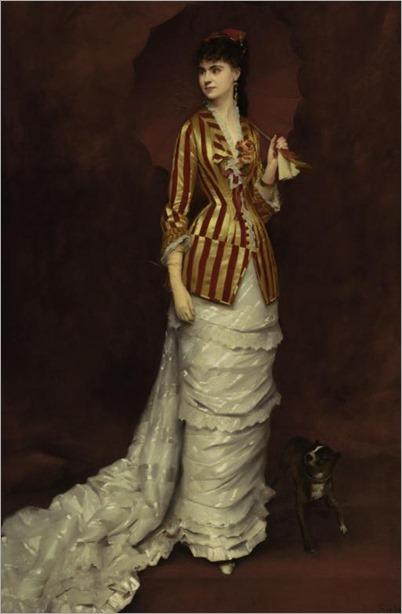 Édouard-Alexandre Sain (1830 - 1910) - The red parasol