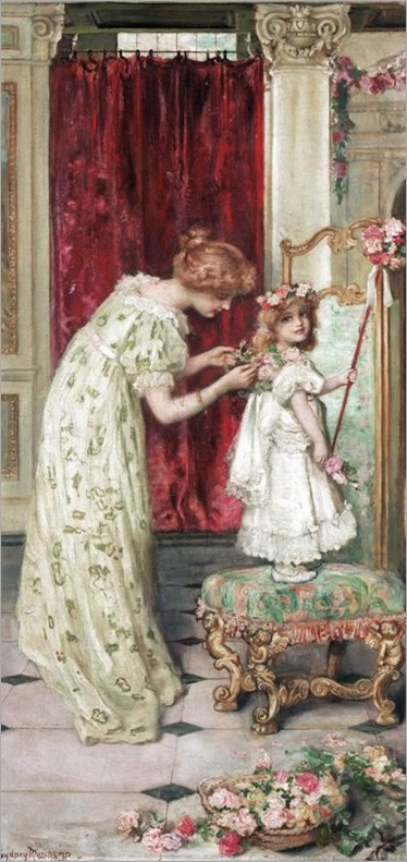dressing for may day-Francis Sydney Muschamp (british, 1851-1929)