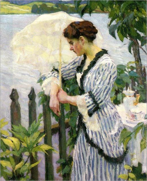 Edward Cucuel (american, 1875-1951)-woman with a parasol_768x945