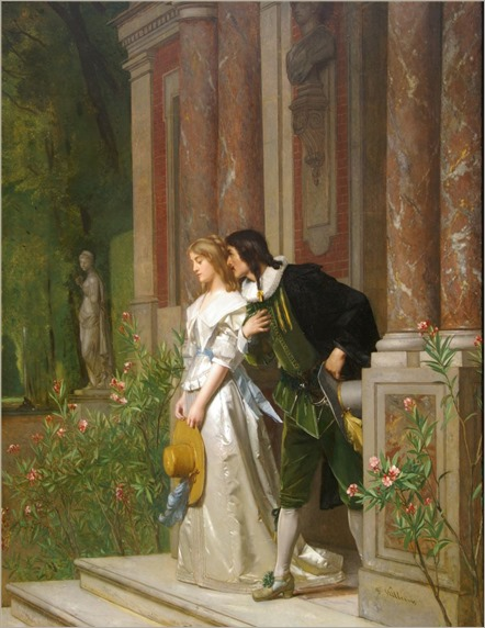 Florent Willems (1823 - 1905) - The proposal