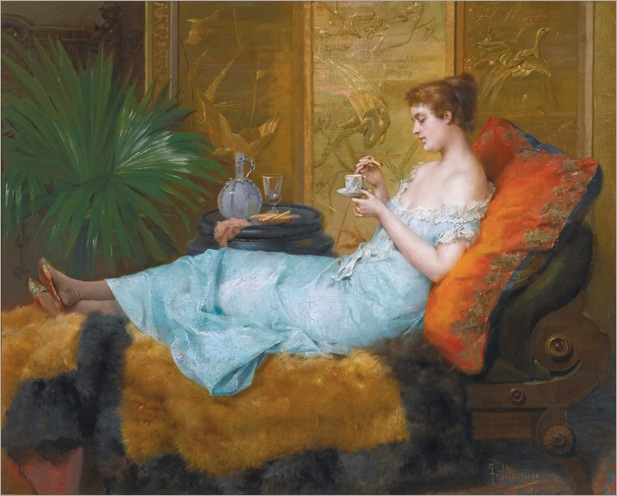 Francisco Masriera (spanish, 1842 - 1902) - Tea Time, 1897