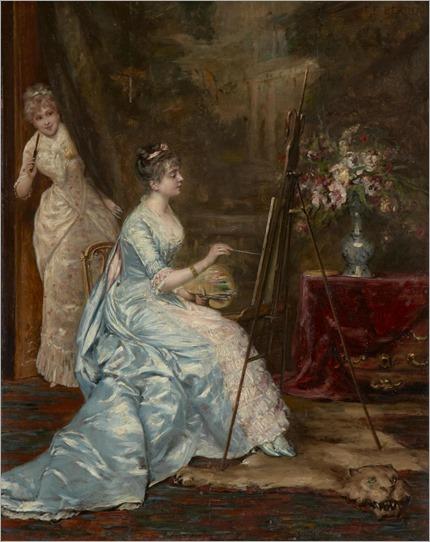 Francisque Eduard Bertier, XIX century, A stolen glimpse