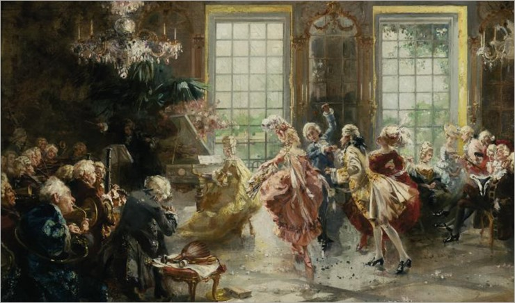 François Brunery (1849 - 1926) - A spirited dance