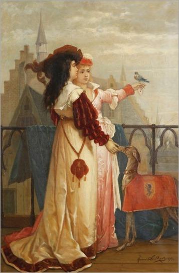 François Dumont (circa 1850 - ) - Le messager fidèle, 1879