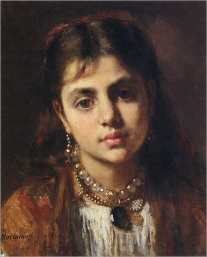 Head Of A Girl-Harlamoff