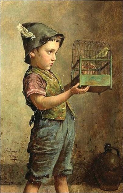 his-pet-canary - Edmund Adler (1876 – 1965, Austrian)