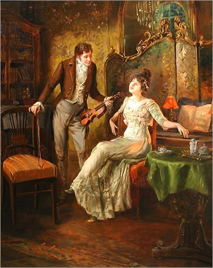Jan Skramlik (1860-1936) - The music lesson