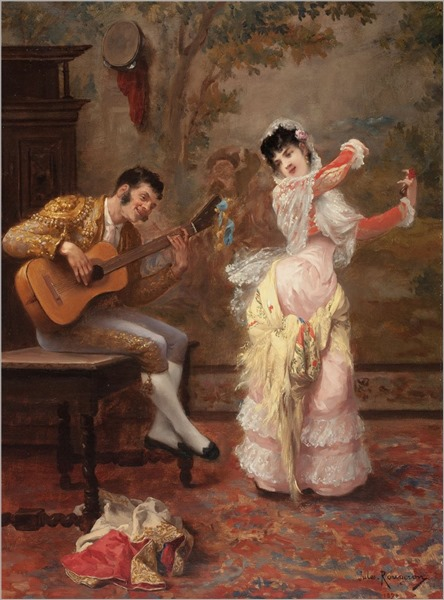 Jules James Rougeron (1841-1880) The Dancer