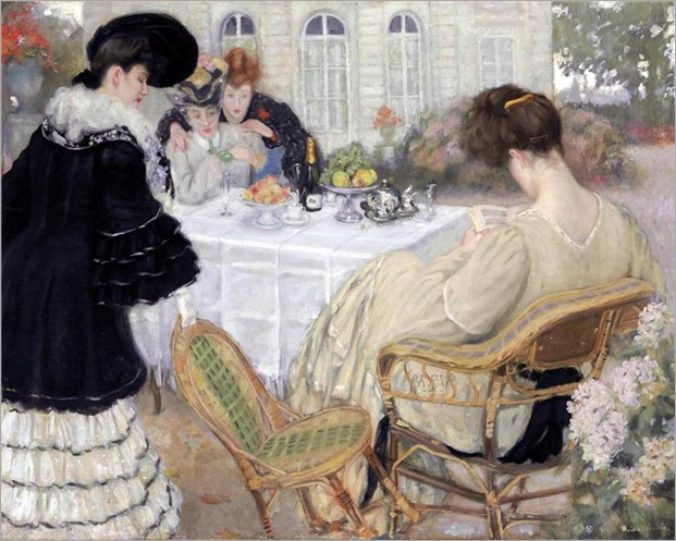 Ladies Taking Tea -1902- Henry Caro-Delvaille