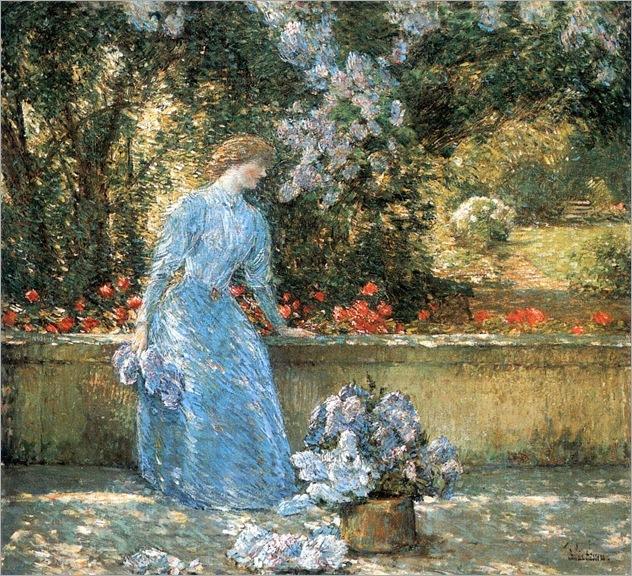 Lady in the Park - Childe Hassam