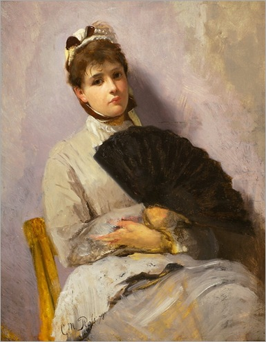 lady with a fun-Christian Meyer Ross - 1878