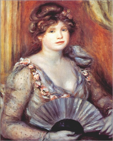 lady with fan 1906-Pierre Auguste Renoir (French artist, 1841–1919)