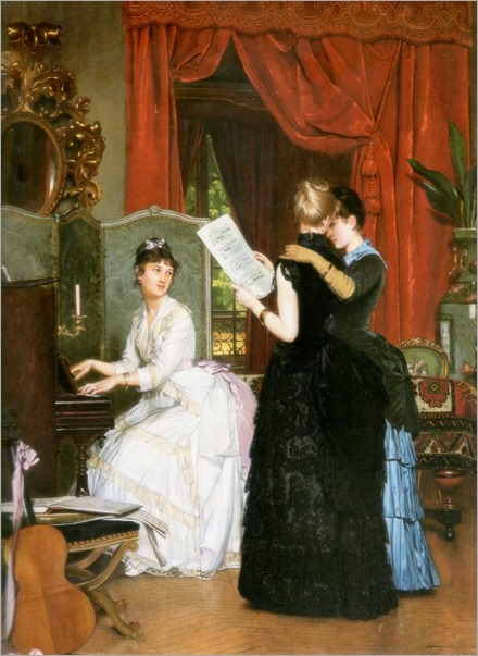 Louis-Edmond Pomey (french, 1831-1891 or 1901)-The concert_745x1024