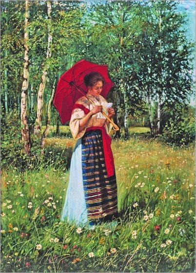 Nikolay Bogdanov-Belsky (russian painter) - Reading a Letter (1892)