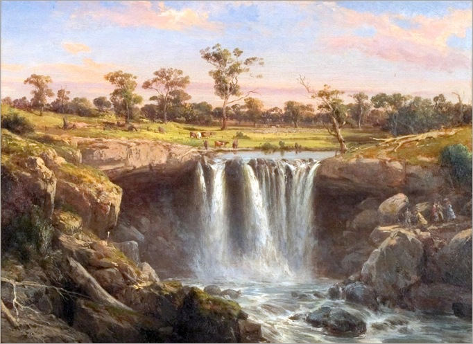 One of the Falls of the Wannon -1872- Louis Buvelot