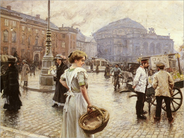 Paul Gustave Fischer-A View of Kongens Nytorv, Copenhagen