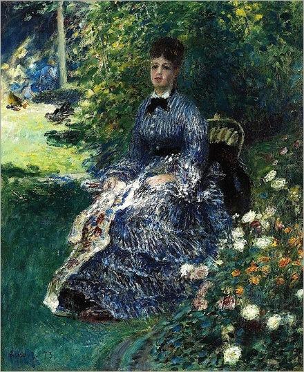 Pierre Auguste Renoir - La tapisserie dans le parc (Camille Monet) - 1873